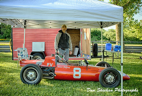 Formula Vee Race Car And Driver At Blackhawk Farms Raceway In Illinois. VSCDA