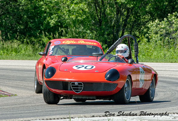 Alfa Romeo Road Racing At Blackhawk Farms Raceway in Illinois. A VSCDA Event. Fine Art Motorsports Photography