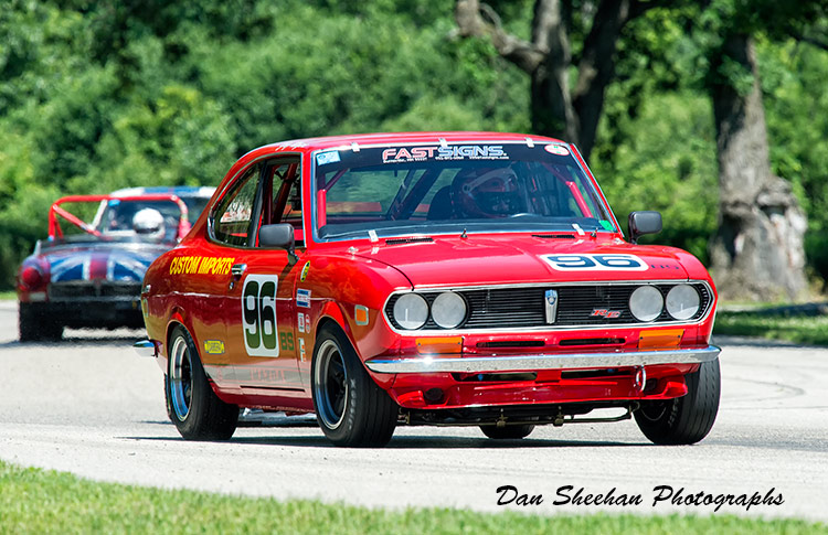 Vintage Mazda Road Racing At Blackhawk Farms In Illinois. VSCDA Event. Dan Sheehan Photographs