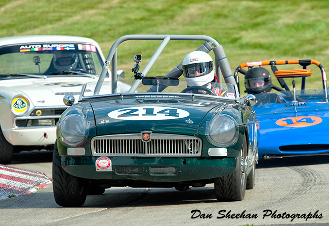 MG Vintage Sports Car Road Racing At Waterford Hills Raceway In Michigan. Dan Sheehan Photographs