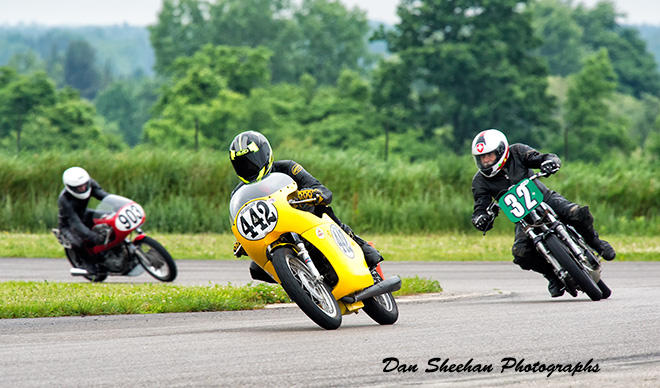 Two-Wheeled Motorsports At Gingerman Raceway In South Haven, Michigan. AHRMA
