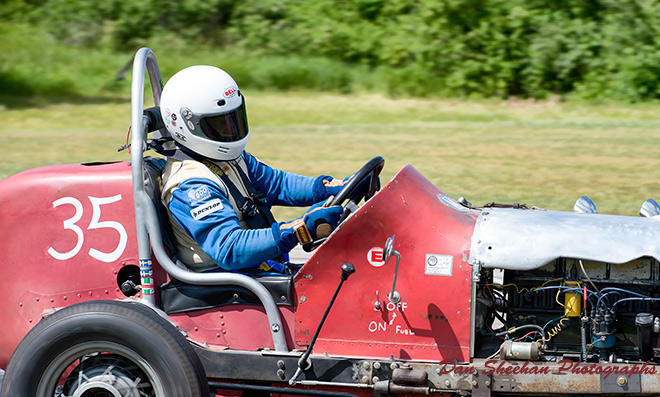 Sturdy Vintage Race Car At Blackhawk Farms Raceway In South Beloit, Illinois. VSCDA event. Dan Sheehan Photographs