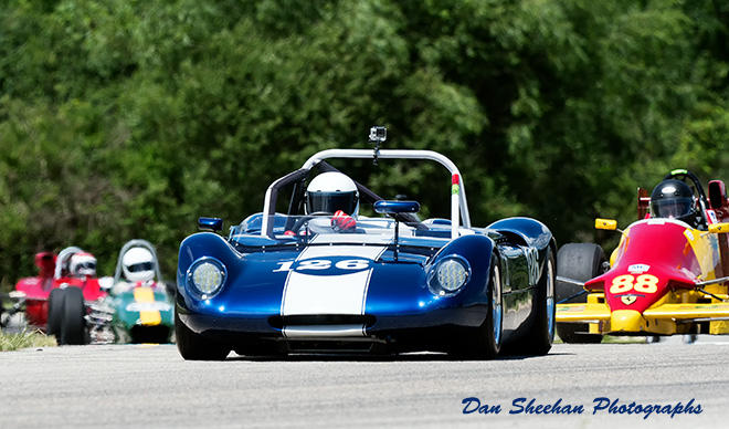 Classic Sports Cars Road Racing At Blackhawk Farms Raceway In Illinois. A VSCDA event. Dan Sheehan Photographs