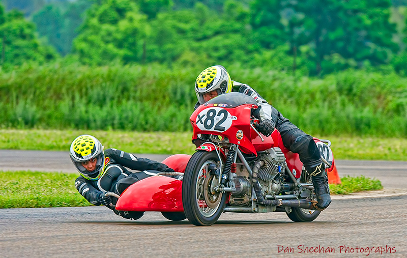 Motorcycle Road Racing At Gingerman Raceway In South Haven, Michigan. An AHRMA Event.
